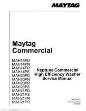 maytag mah14pd service manual pdf download rh manualslib com Maytag Centennial Washer Problems maytag commercial washer service manual