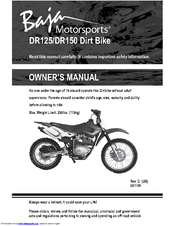 BAJA MOTORSPORTS DR125 OWNER'S MANUAL Pdf Download. on