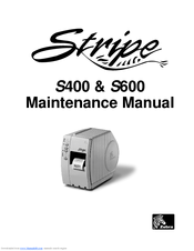 Zebra Stripe S600 Manuals Manualslib