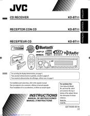 jvc kd bt11 radio cd manuals rh manualslib com Instruction Manuals JVC Camcorders Xf76 JVC Manual