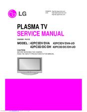 lg 42pc3d ud manuals rh manualslib com LG Plasma TV Repair Parts 52 Inch LG Plasma TV