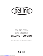Belling 100 GDO Instructions For Use Manual