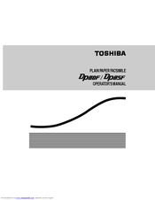 Toshiba DP80F Operator's Manual