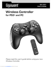 GIGAWARE WIRELESS CONTROLLER FOR PS3 AND PC DRIVER WINDOWS