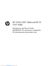 HP 10 Plus 2201 User Manual