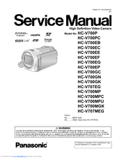 Panasonic HC-V700GN Service Manual
