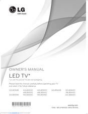LG 32LB555B OWNER'S MANUAL Pdf Download
