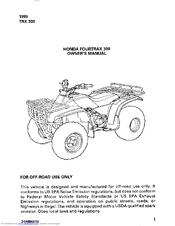 2000 2003 honda trx350 rancher 350 service repair manual download