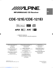 Alpine Cde 9882ri user Manual