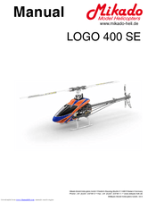 Mikado logo 400se manual | helicopter | helicopter rotor.