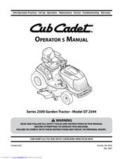 cub cadet gt 2544 manuals rh manualslib com Cub Cadet GT 2544 Motor cub cadet gt 2544 manual