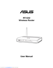 Asus RT-G32 - Wireless Router User Manual
