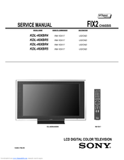 service manual sony bravia lcd tv