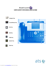 Alcatel-lucent 4038 / 4039 & 4068 phone user guide.
