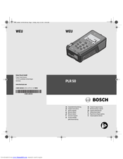 Bosch PLR 50 Original Instructions Manual