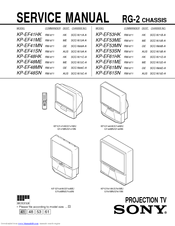 Sony KP-EF61ME Service Manual