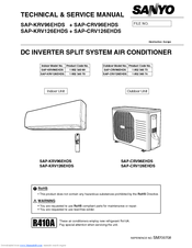 sanyo sap krv126ehds manuals sanyo room air conditioner owner's manual sanyo air conditioner service manual