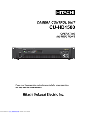 Hitachi CU-HD1500 Operating Instructions Manual