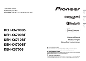 manuals and user guides for pioneer deh-x6700bt  we have 2 pioneer deh- x6700bt manuals available for free pdf download: owner's manual, manual