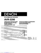 denon avr 3200 manuals rh manualslib com denon avr-x1300w instruction manual denon dn-mc6000 instruction manual