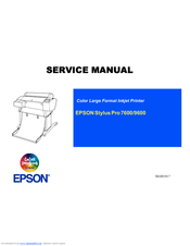 epson stylus pro 7600 photographic dye ink manuals rh manualslib com manual for epson 700 artisan Epson 7600 Review