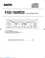 Sanyo FXD-780GD Operating Instructions Manual