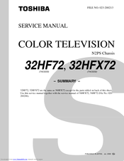 Toshiba 36HF72 Service Manual
