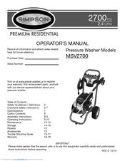 Simpson Msv2700 Manuals