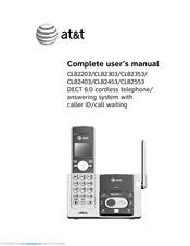 at t cl82353 manuals rh manualslib com att phone manual cl82301 att phone manual cl82313