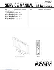sony kf 60xbr800 60 xbr grand wega rear projection television rh manualslib com sony 55 inch projection tv manual sony 55 inch projection tv manual