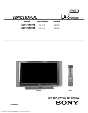 Sony GRAND WEGA KDF-55XS955 Service Manual
