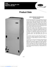 CARRIER FX4D PRODUCT DATA Pdf Download