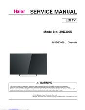 haier 39d3005 manuals rh manualslib com haier tv service manual download haier hsu 09 service manual