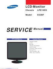 Samsung SyncMaster 932BF Service Manual