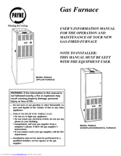 payne pg8uaa manuals rh manualslib com payne gas furnace installation manual payne gas furnace service manual