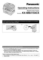Panasonic KX-MB3150CX Multi-Function Station 64 BIT Driver