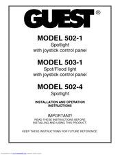 guest 502 1 installation and operation instructions manual  guest spotlight wiring diagram marine #14