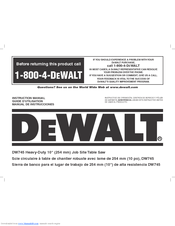 dewalt dw745 manuals rh manualslib com IntelliChlor Transformer Wiring Diagram For Channel 6 D S Ph11 RR Amp Wiring Diagram for A