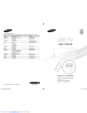 Samsung UA32D6400 User Manual