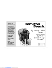 Hamilton Beach 67650 - Big Mouth Pro Juice Extractor Manual