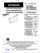 hitachi vm e230e service manual pdf download rh manualslib com hitachi vm-e210e manual hitachi vm-d865la manual