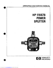 HP 11667B Operating And Service Manual