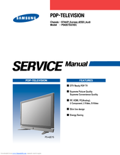 SAMSUNG PS42E7SX SERVICE MANUAL Pdf Download. on
