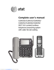 at t cl84202 manuals rh manualslib com Manual for AT&T Phone at&t telephone manual cl2939