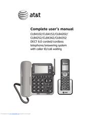 at t cl84352 manuals rh manualslib com att telephone manual cl2940 at&t telephone dect 6.0 manual