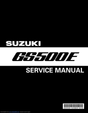 Suzuki GS500E Service Manual