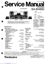 Technics sh-eh600 sound processor service manual inc schem diag.
