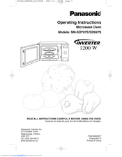 We Have 5 Panasonic Genius Prestige Nn Sd797s Manuals Available For Free Pdf Operating Instructions Manual Service Setup