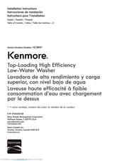 Kenmore 110.2810 Installation Instructions Manual