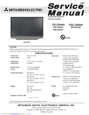 mitsubishi electric wd 52531 service manual pdf download rh manualslib com mitsubishi wd-60737 service manual pdf